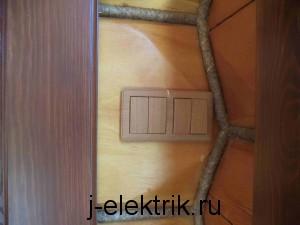 установка электрических выключателей
