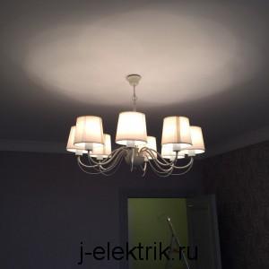 услуги электриков установка светильников