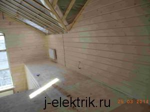 Деревянный дом электромонтаж