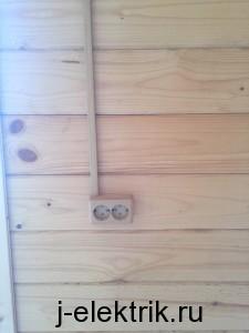 Проводка в деревянном доме в коробе