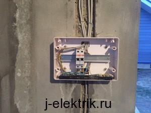 Электрический щиток беседки