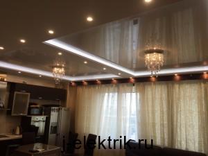 Монтаж светодиодных светильников