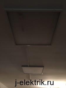 Установка накладных светильников