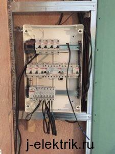 Вывод кабелей в ЩР перед подключением