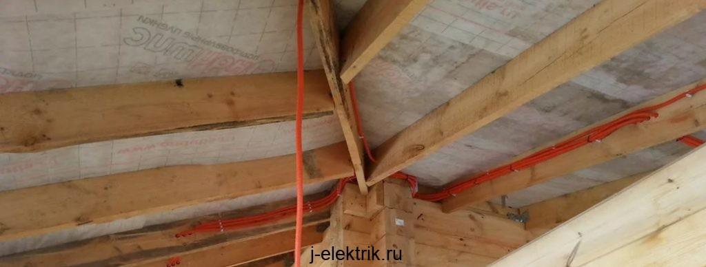Стоимость электрики деревянного дома